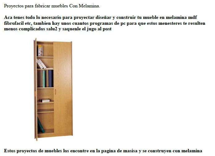 Aprende a fabricar muebles de melamina pdf descargar gratis for Fabricacion de muebles de melamina pdf