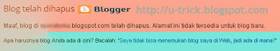 Blog Blogspot di hapus Google/Blogger