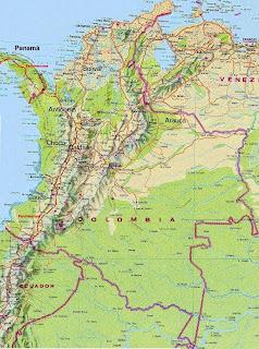 Kolumbia - Hartat gjeografike në Kolumbisë