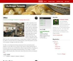 Vita Blogger Template