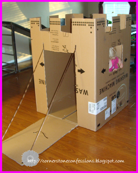 Cardboard box makeover cornerstone confessions for Go as you like ideas