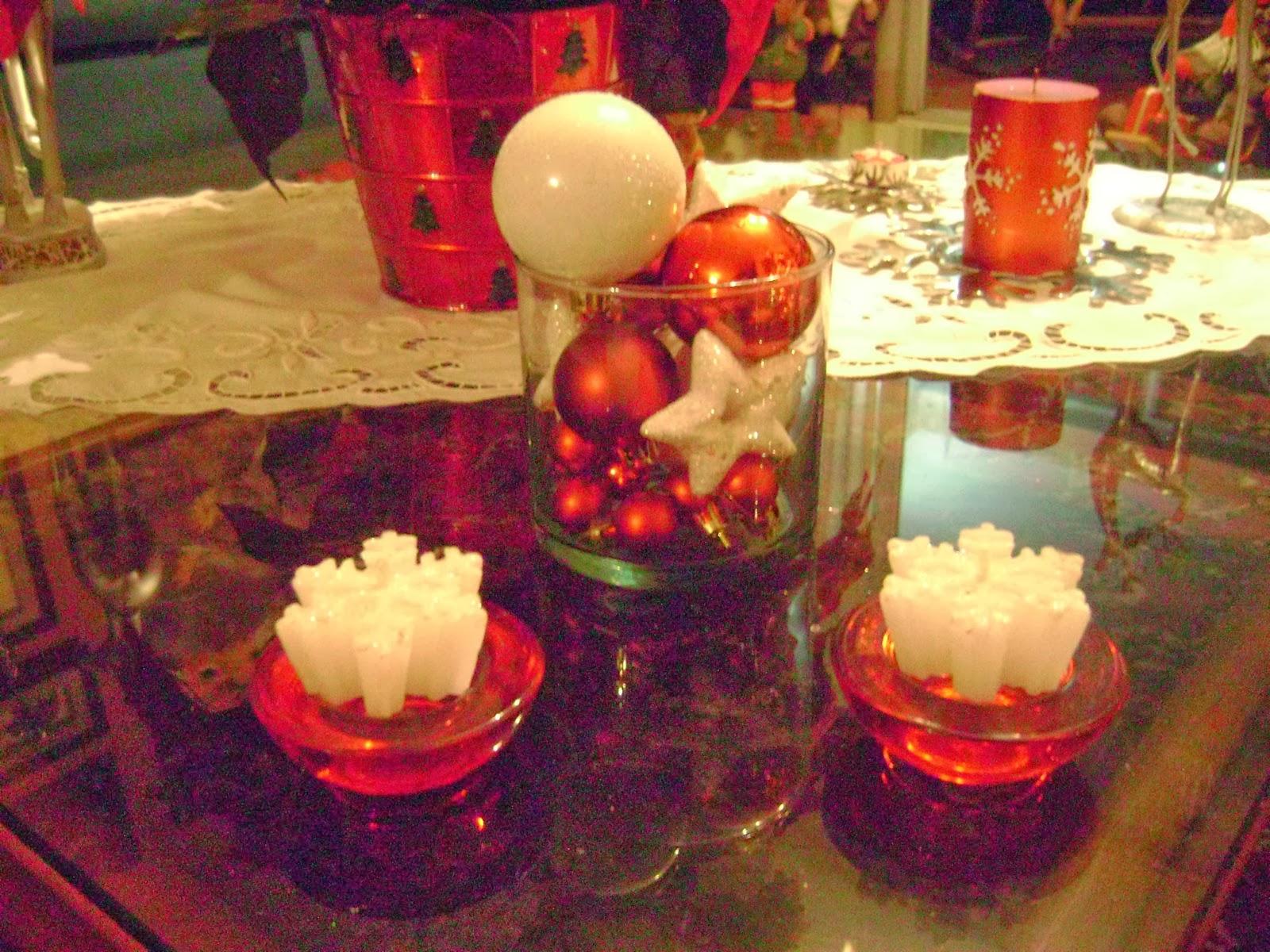 Centros de mesa navide os con esferas parte 2 for Centros navidenos con velas