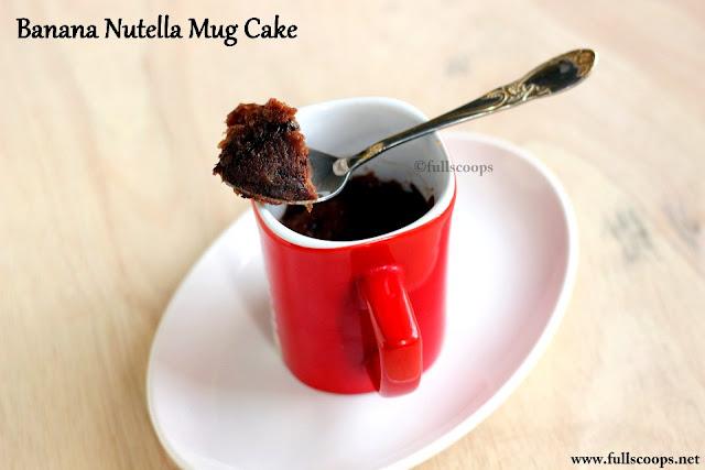 Instant Microwave Banana Nutella Mug Cake