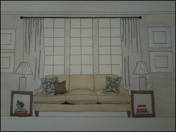Tara free interior design current project ladera ranch for Living room elevation