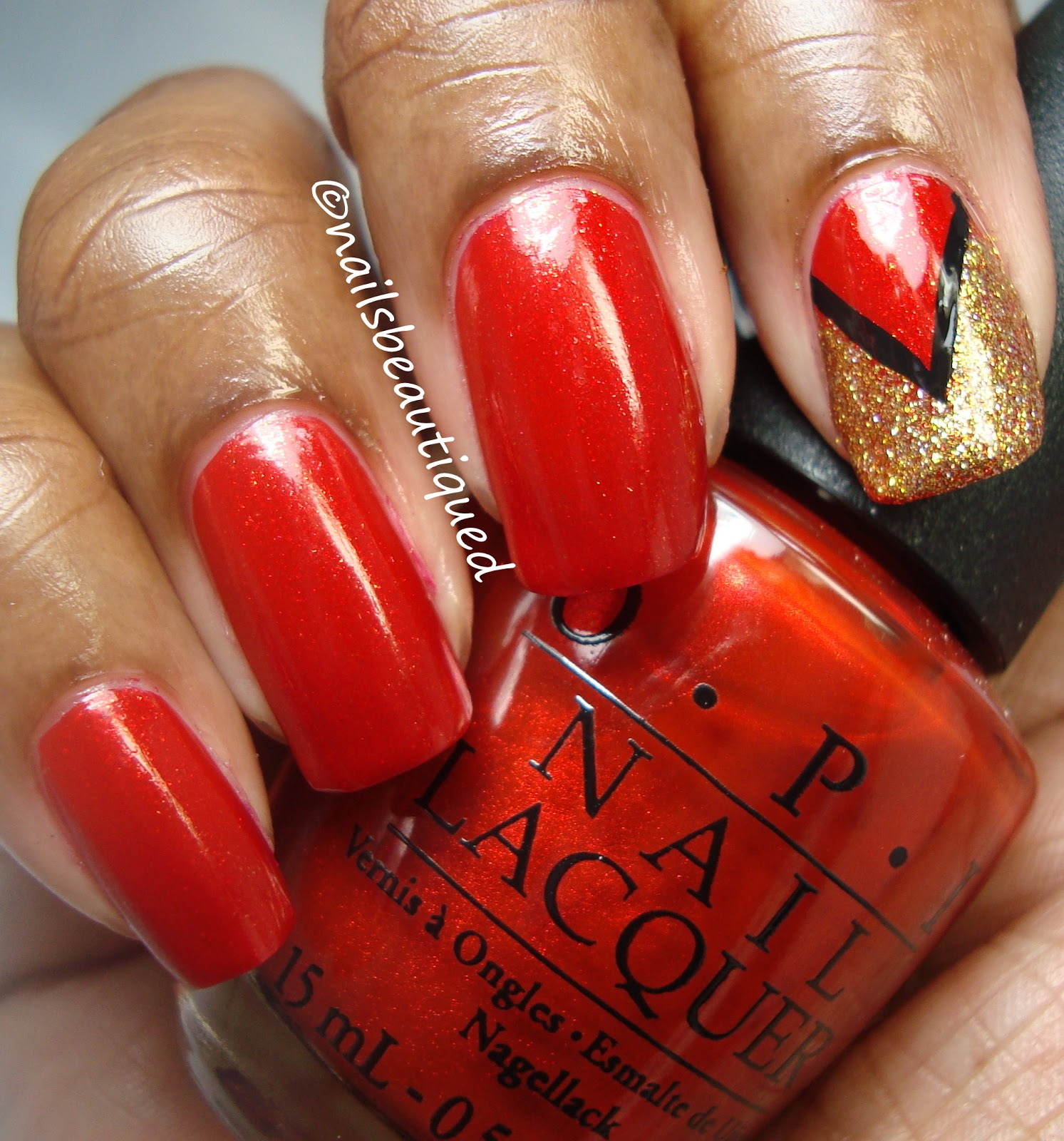 Red And Gold Nail Designs Tumblr Red And Gold Nail Desi...