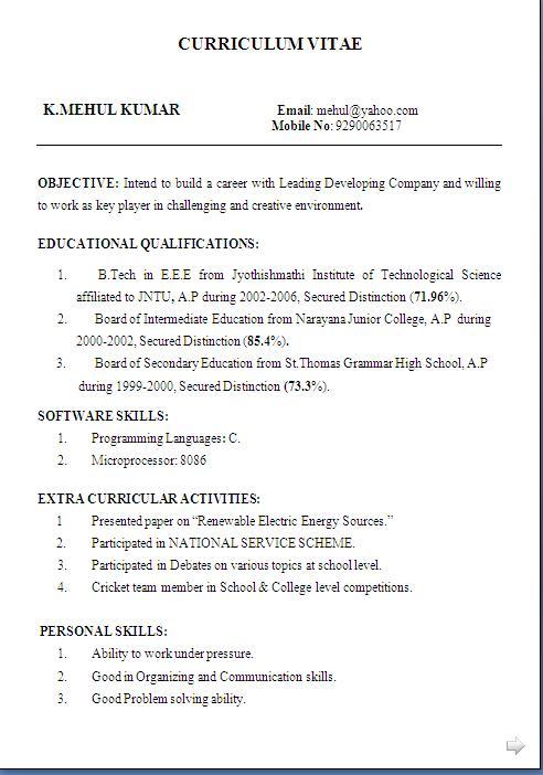 Amazing resume examples