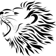 Motif Tato Singa Hitam Putih 28