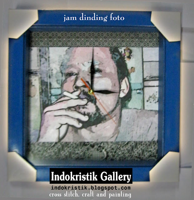 indoKristik: Indonesian Cross Stitch: jam dinding foto