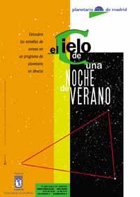El cielo de una noche de verano en el Planetario de Madrid