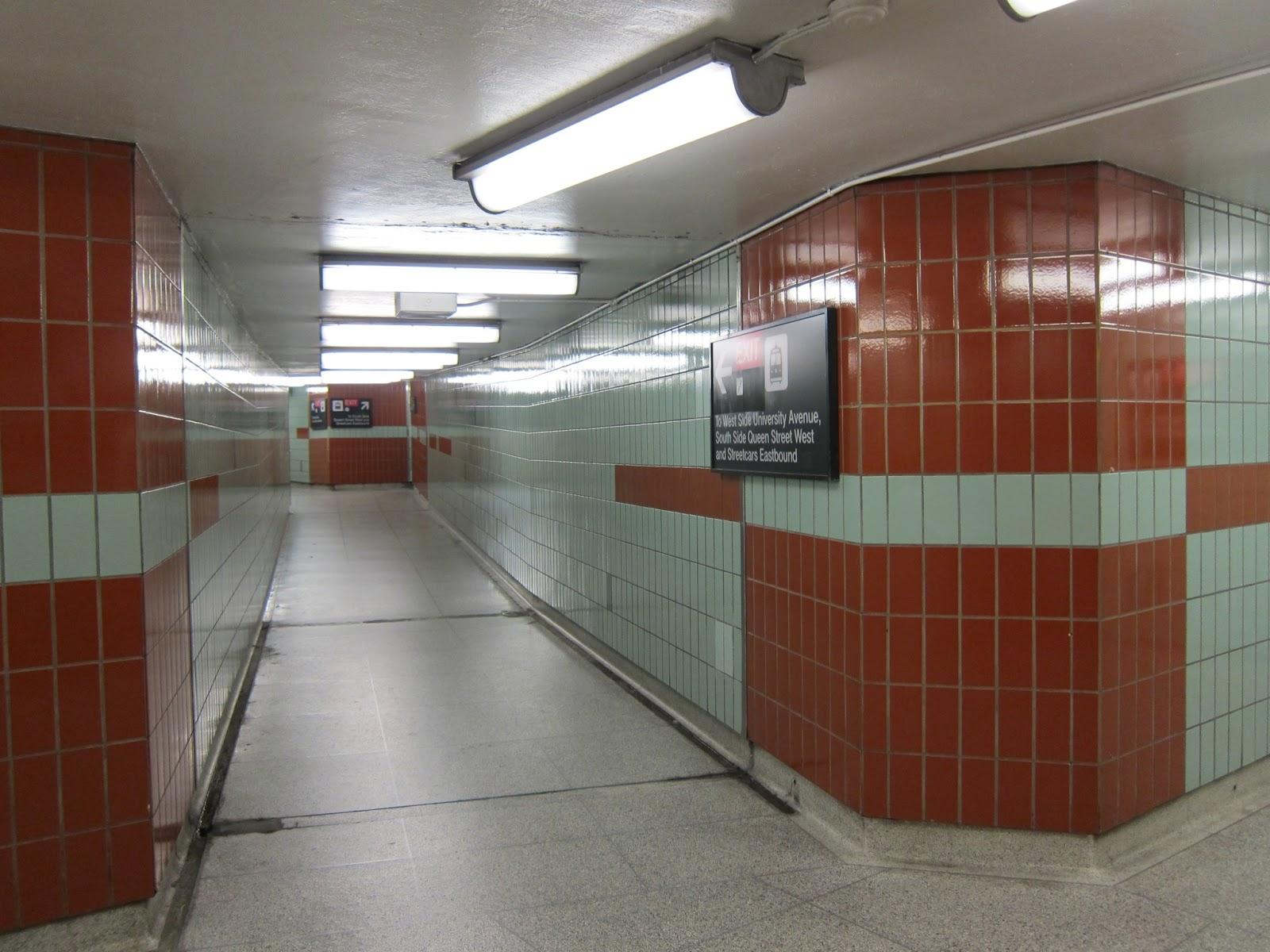 Osgoode station mezzanine corridor