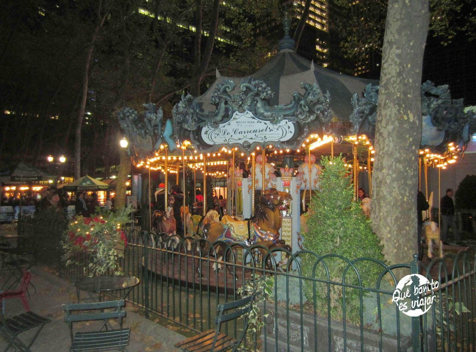 Mercado navideño de Bryant Park en NYC