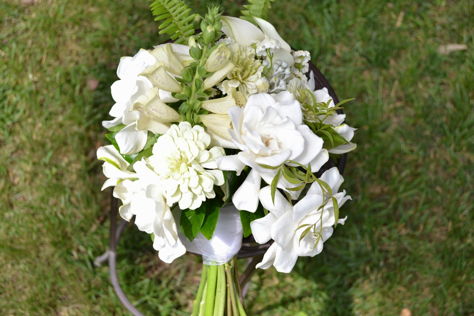 Wedding Flowers from Springwell: Gardenias for White Bouquets