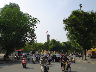 Hanoi Citadel Motorcycle in traffic