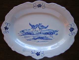 Italian Blue and White Small Tray