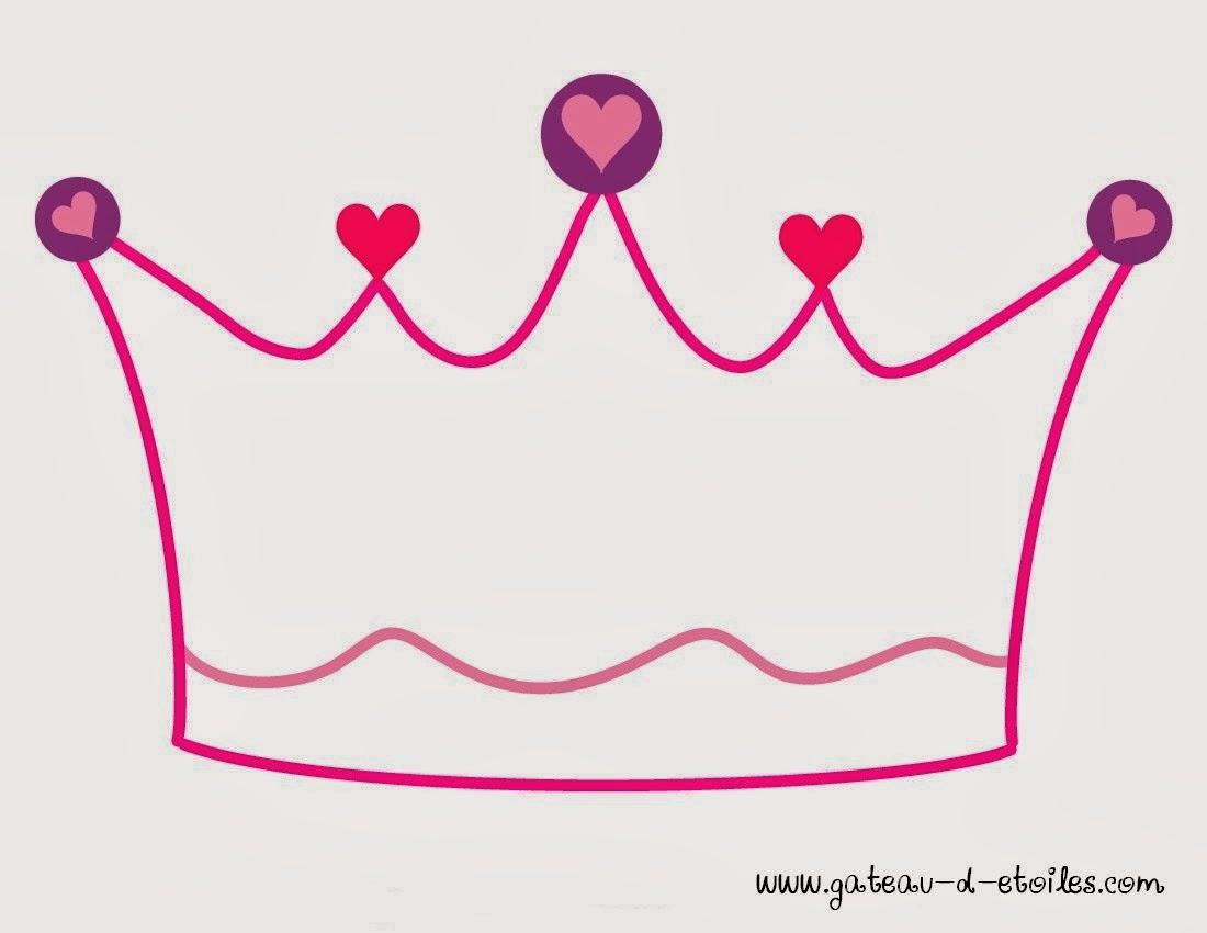 Vibrant image throughout printable princess crown