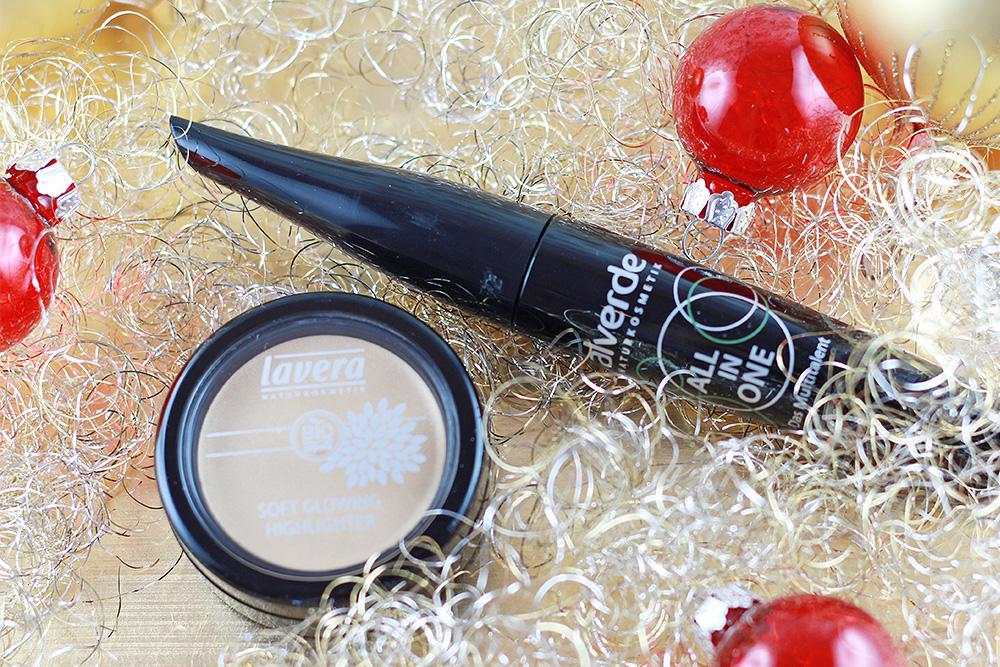 dm Weihnachtsbox - 2015 Natürliche Verwöhnmomente - Alverde Mascara und Lavera Highlighter