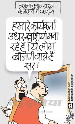 bjp cartoon, rahul gandhi cartoon, congress cartoon, election 2014 cartoons, indian political cartoon