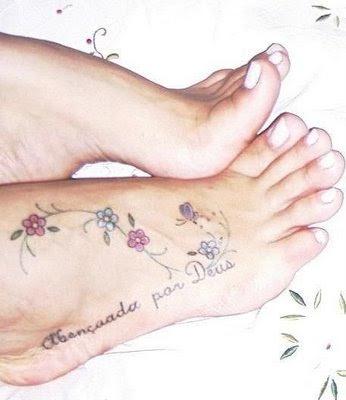 Dicas de Tatuagens no Pé Femininas