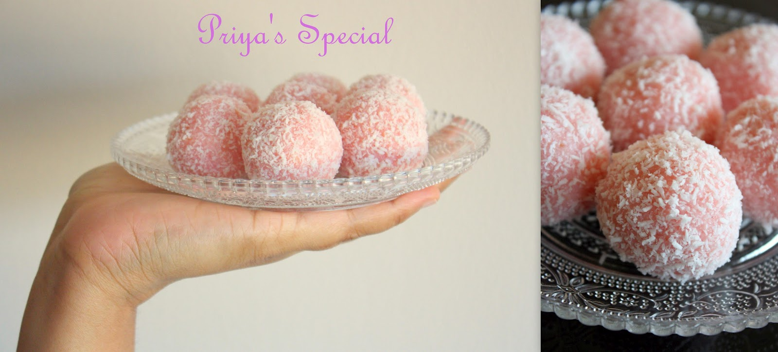 Cook like Priya: Coconut Ladoo with Rose Syrup