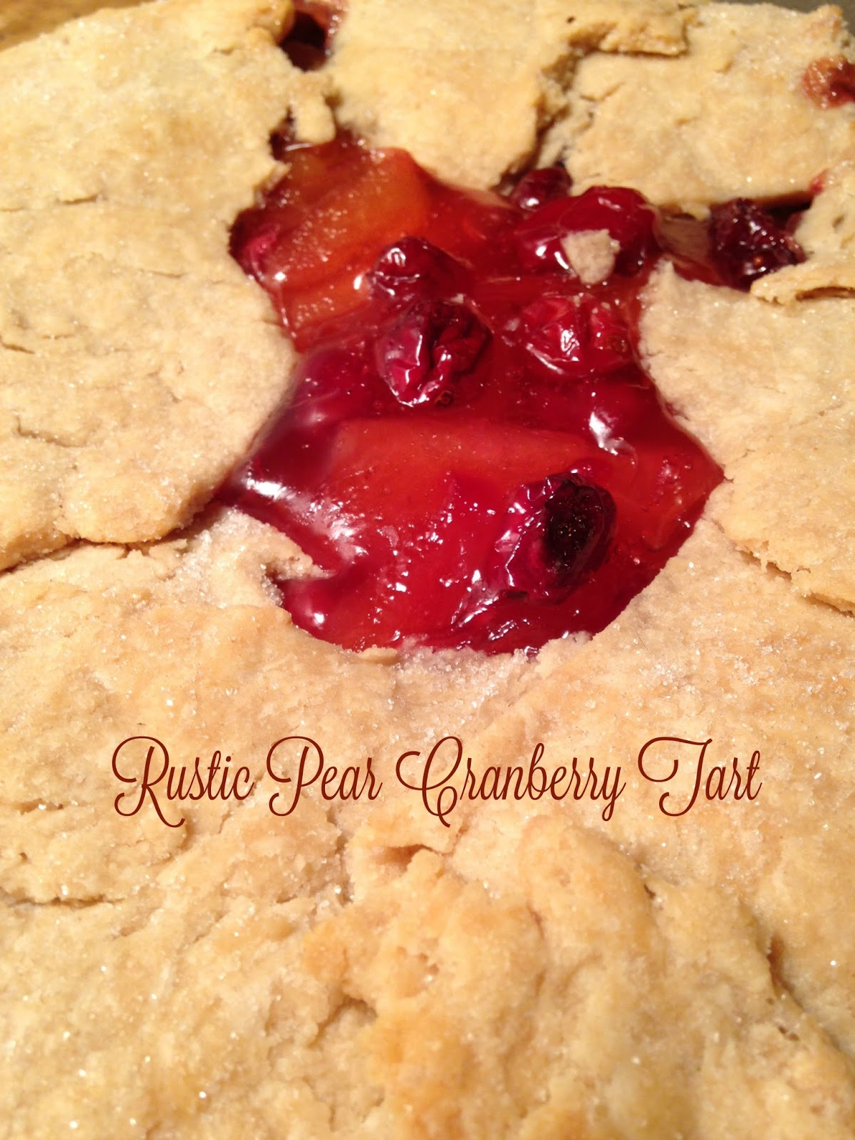 rustic pear and cranberry tart
