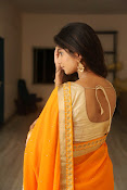 Midhuna New photo session in Saree-thumbnail-16