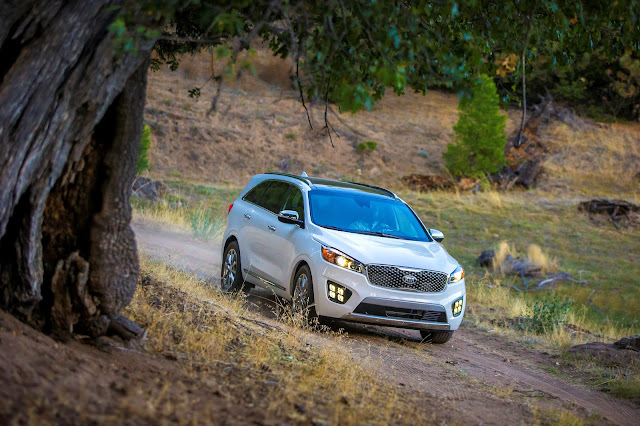 Front 3/4 view of 2016 Kia Sorento