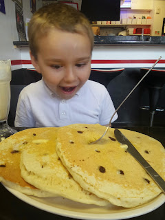 BB with Pancakes the size of a small car... house... well at least his head!