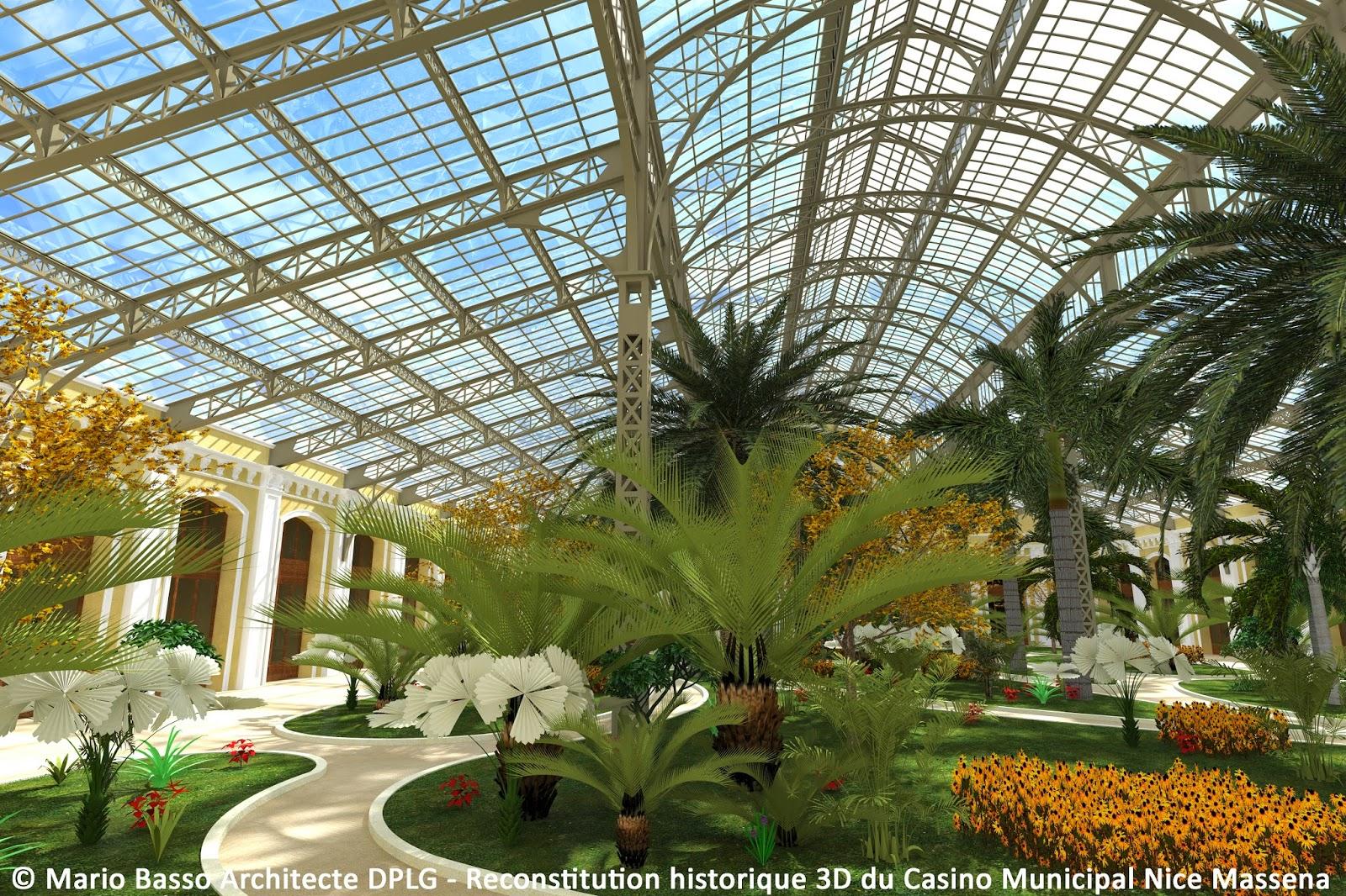Casino municipal nice massena en 3d vues du jardin d 39 hiver for Entretien du jardin en hiver
