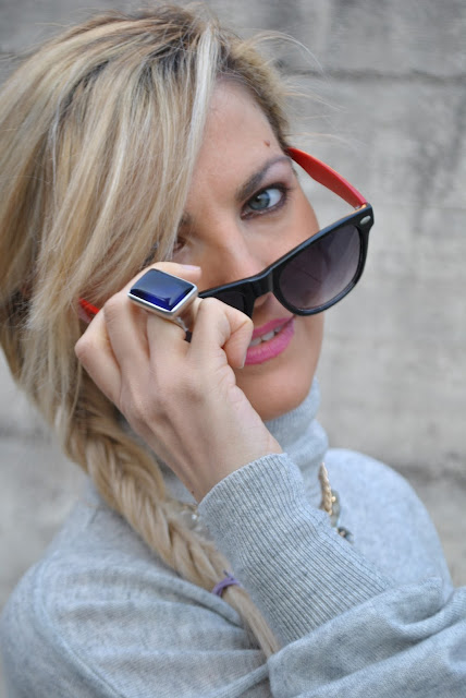 occhiali da sole rayban anello argento pianegonda  occhi blu ragazze occhi azzurri outfit da giorno invernale outfit gennaio 2016 january  outfit january 2016 outfits casual winter outfit mariafelicia magno fashion blogger colorblock by felym fashion blog italiani fashion blogger italiane blog di moda blogger italiane di moda fashion blogger bergamo fashion blogger milano fashion bloggers italy italian fashion bloggers influencer italiane italian influencer