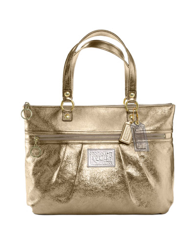 COACH POPPY LEATHER GLAM TOTE #15286