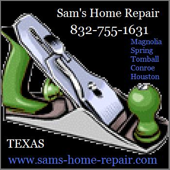 Call Sam 832-755-1631 for fast, friendly, professional roof repair work in Magnolia TX.