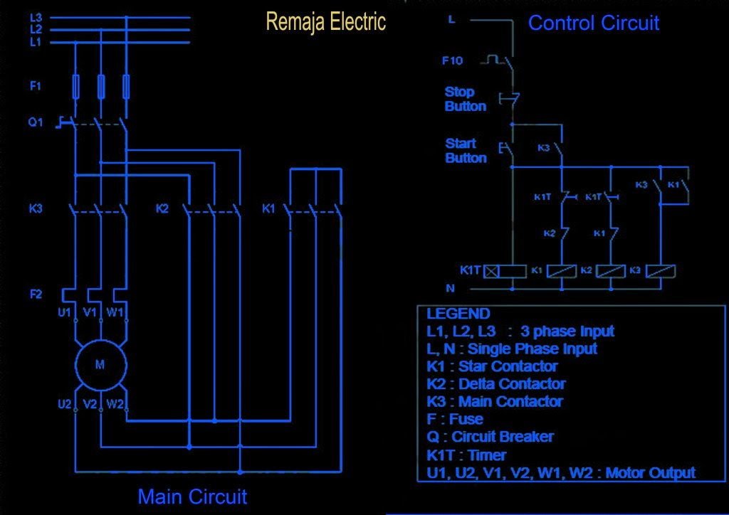 2014 electrical winding wiring diagrams in operation the main contactor k3 and k1 star contactor will be energized initially and then after some time the contactor will be de energized star is