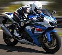 2012 Suzuki GSX-R1000 on the road