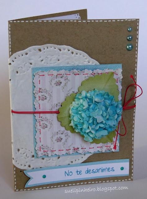Tarjeta hortensia, primavera