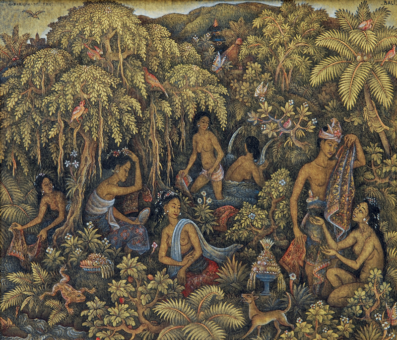 Old Balinese Paintings For Sale