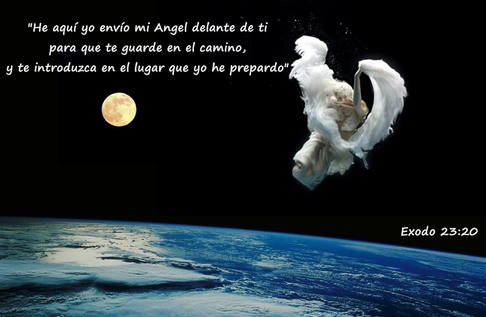 Jehová enviara sus ángeles delante de ti. Versículo de Exodo 23:20