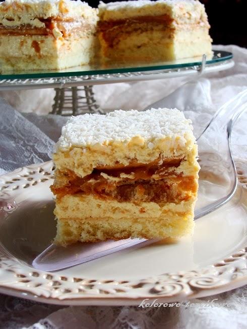Podwójnie waniliowe ciasto biszkoptowe
