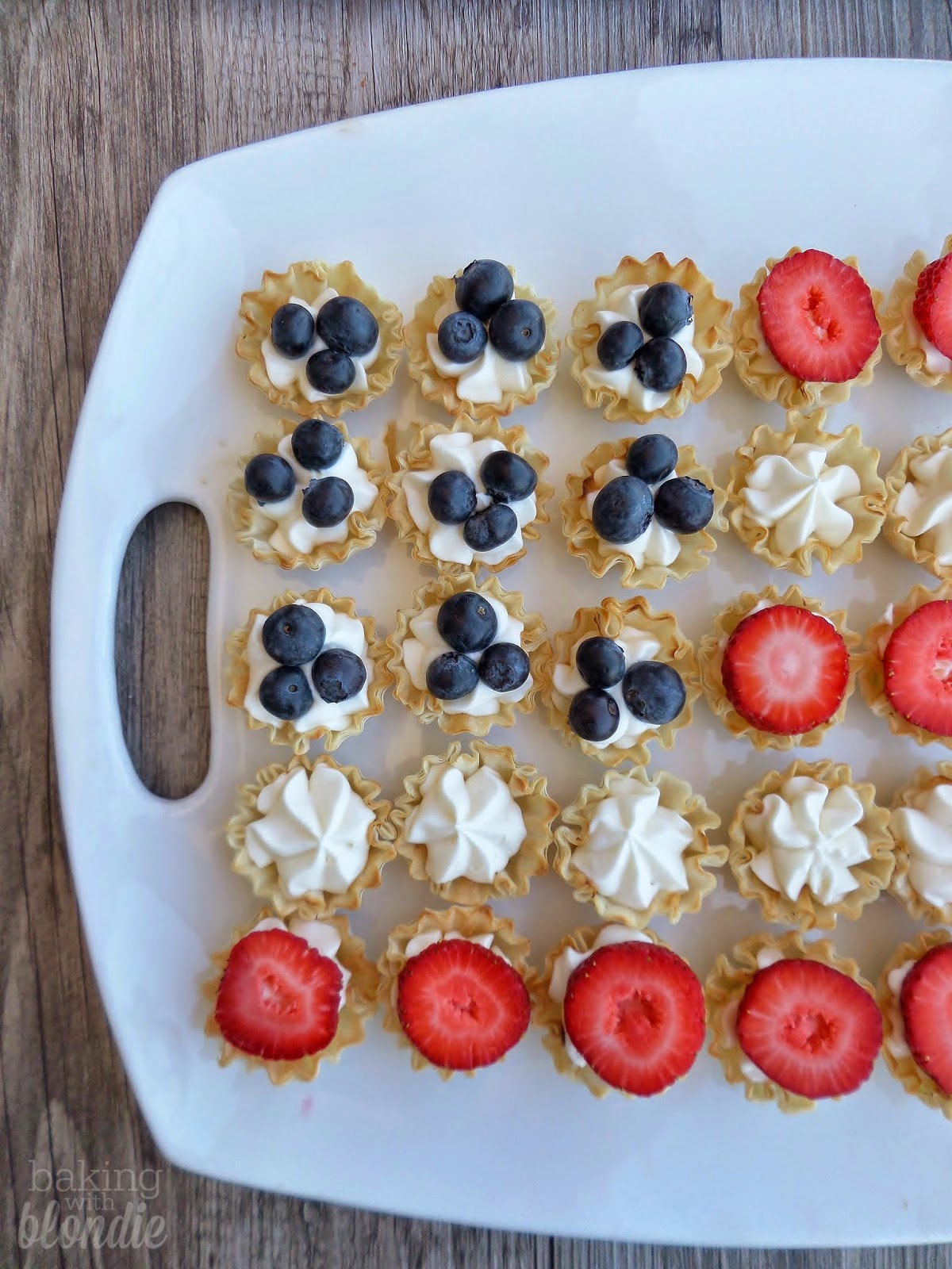 Easy Fourth Of July Dessert: Flag Berries & Cream Tarts