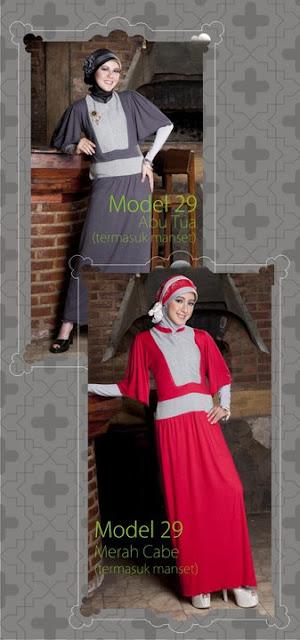 Mazaya Collection Abu tua Merah cabe