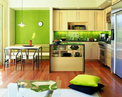 Kitchen set modern 2014 interior design ideas for Modern green kitchen designs