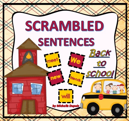 Back to School Scramble Sentences