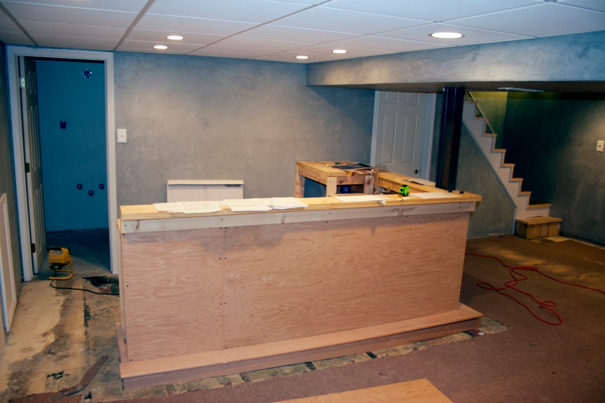 Hockey haven the do it yourself basement remodel how long does it take to build a bar - How to design a bar ...