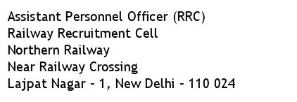 RRC Northern Railway Recruitment