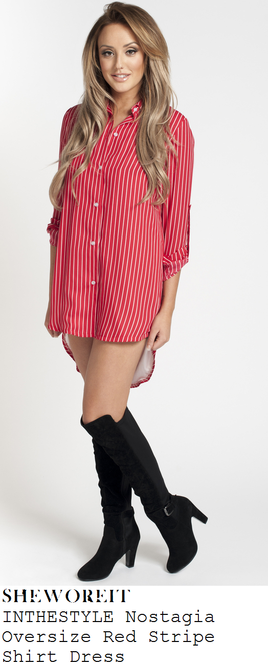 charlotte-crosby-red-and-white-striped-long-sleeve-collared-shirt-dress-australia
