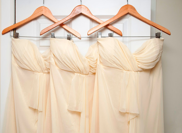 Lemon bridesmaid dresses, wedding