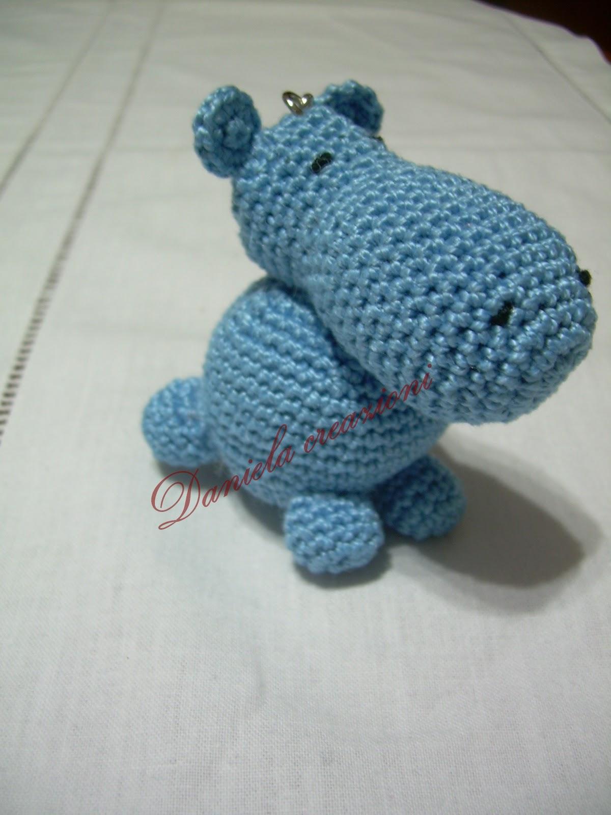 Ippopotamo Amigurumi Crochet : Fantasia di gioie: Dolci amigurumi.....