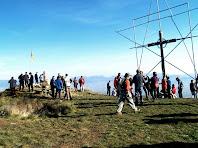 A dalt del Turó de la Creu de Gurb
