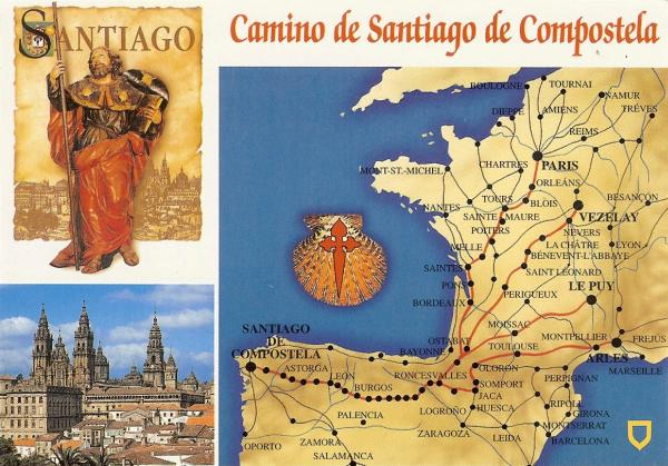 A Postcard a Day Camino de Santiago de Compostela