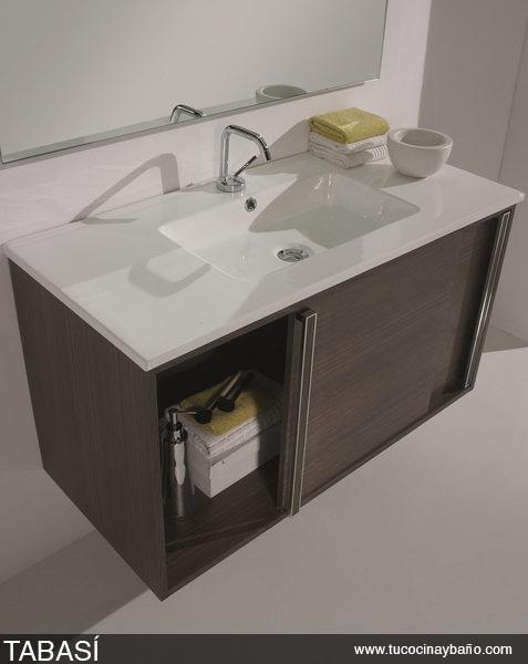 Lavabos Dobles Para Baño:Mueble de baño con puertas correderas: TABASÍ ~ Reformas Guaita