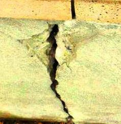 Tie Beam or Grade Beam Cracks Associated with  foundation Settlement